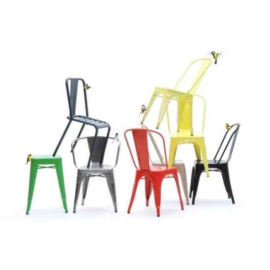 La chaise Modèle A Tolix de Xavier Pauchard