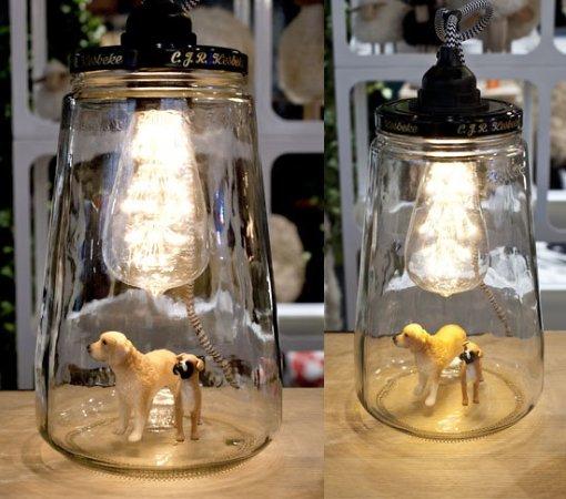 La lanterne à poser ou à suspendrePickle Light upcycling