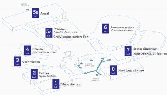 plan maison et objet