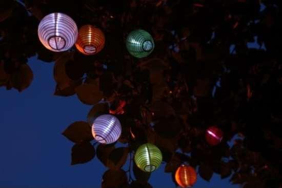 décoration solaire Guirlande solaire lampion