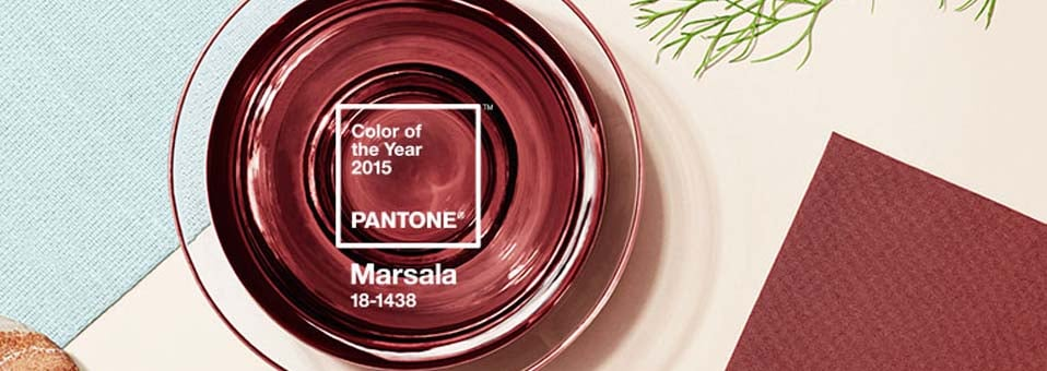 couleur pantone 2015 Marsala