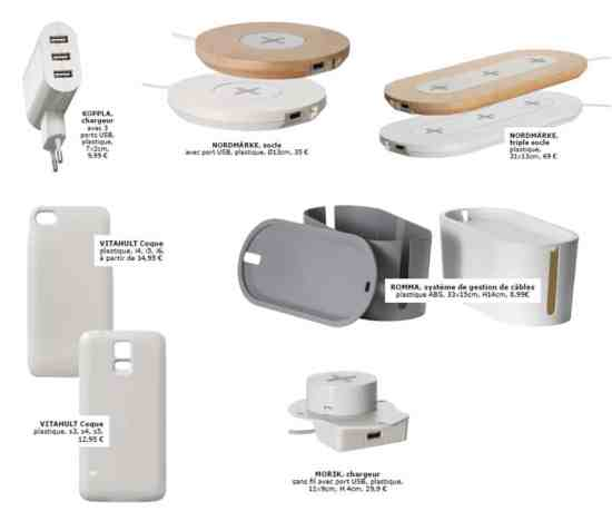 IKÉA chargeur sans fil intégré