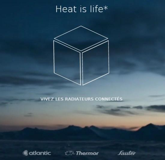 Atlantic Sauter Thermor radiateurs connectés The Cube