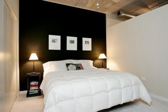 idee decor chambre noir et blanc