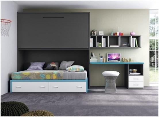 Rangement de chambre tiroirs de lit