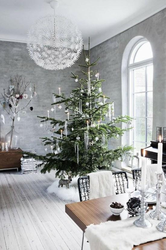 Une décoration de Noël moderne cet hiver