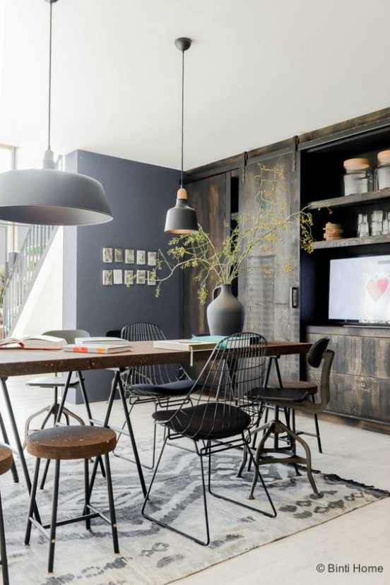 Guide deco salle a manger decoration industrielle