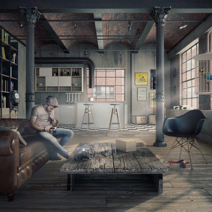 espace industriel masculin