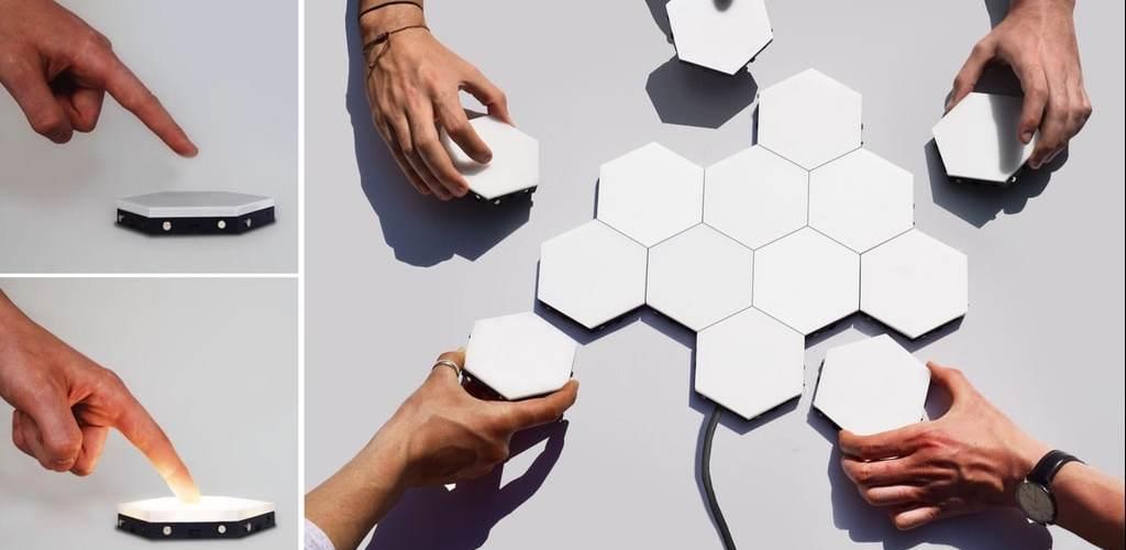 Helios applique modulaire design et tactile