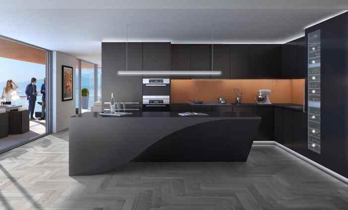 Des cuisines noires pour tous les styles de décoration