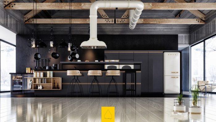 cuisines noires deco design