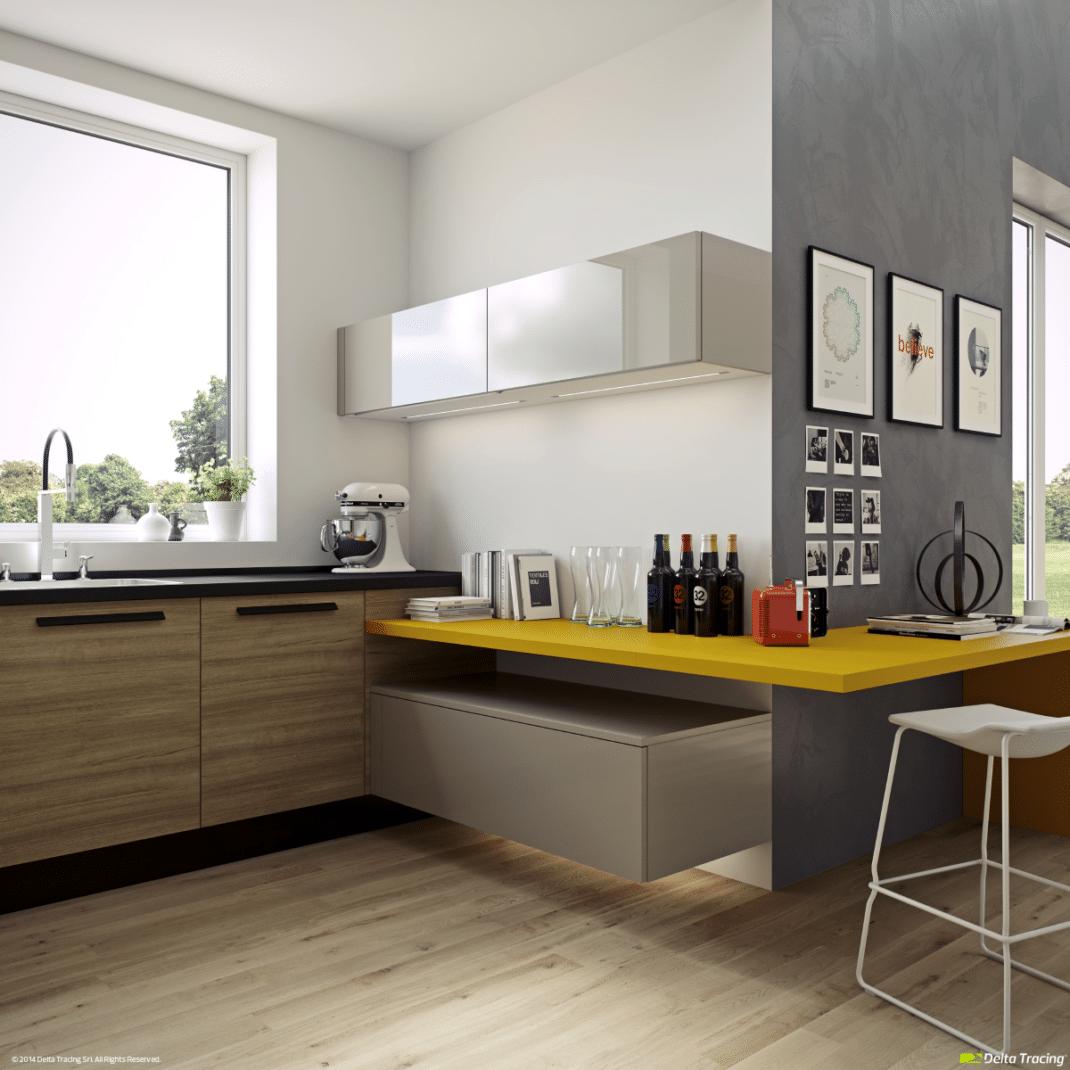 Cociñas de deseño de cores