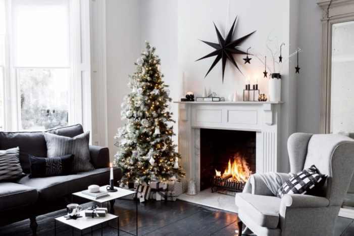 déco de Noël monochrome