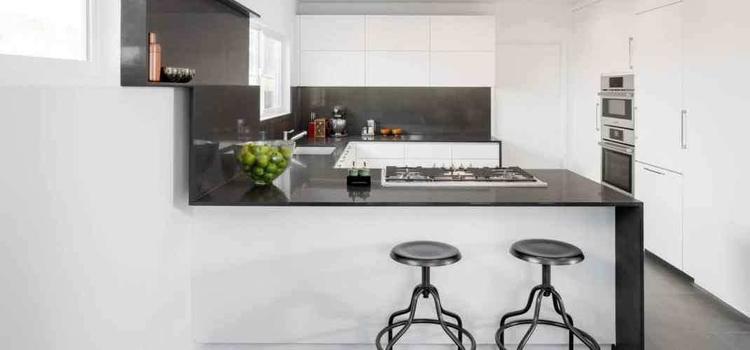 cuisine minimaliste imaginée par l'architecte Dan Brunn