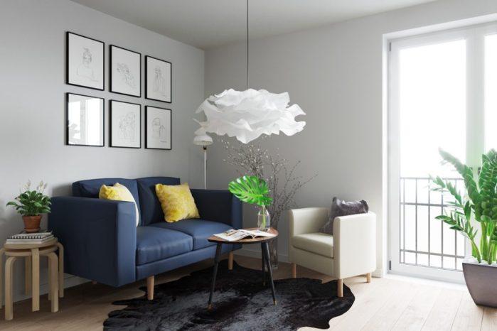 La déco scandinave avec des meubles simples