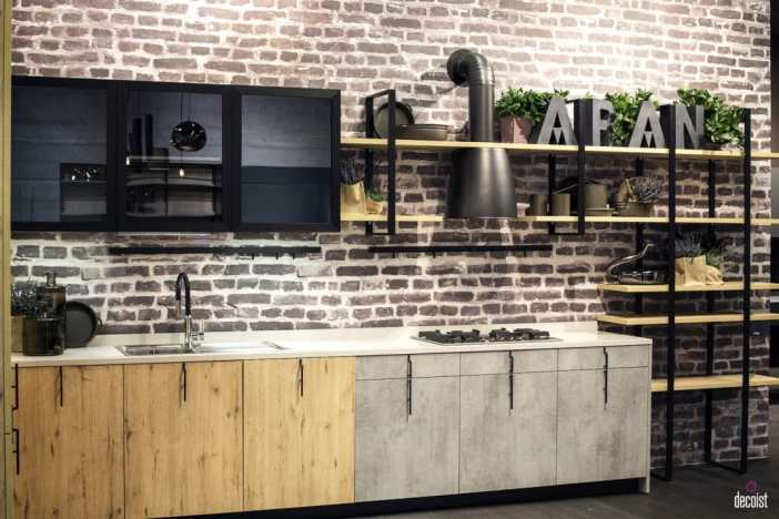 Agencer sa cuisine sur un mur tous les styles sont permis
