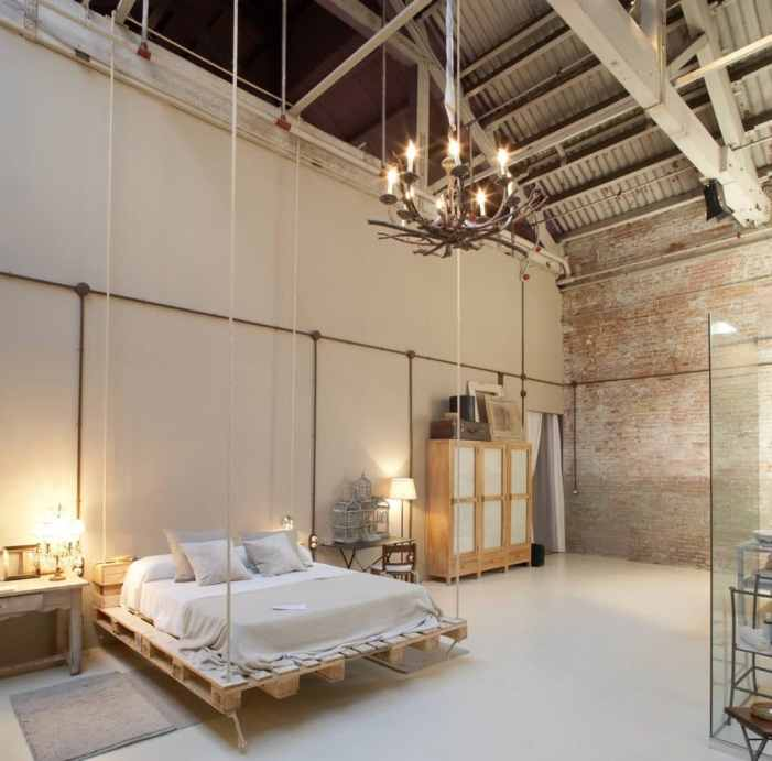 idées déco pour une chambre à la décoration industrielle