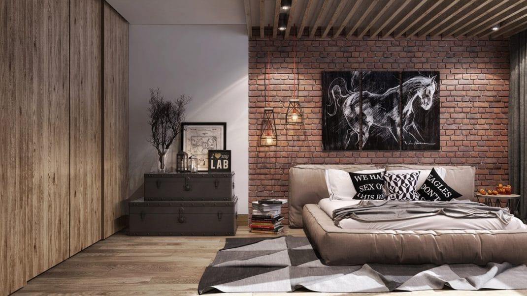 chambre la d coration industrielle mon guide ultime. Black Bedroom Furniture Sets. Home Design Ideas