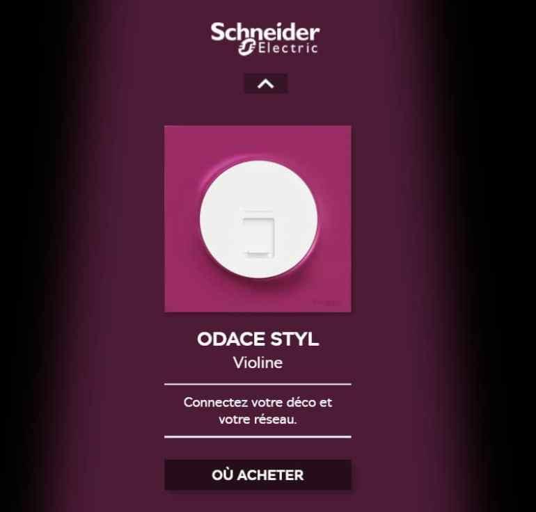 Odace Styl - Ajoutez du pep's à vos prises et interrupteurs