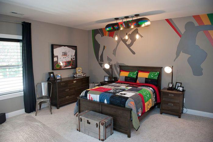 Les ampoules Edison dans une chambre d'enfant de style moderne