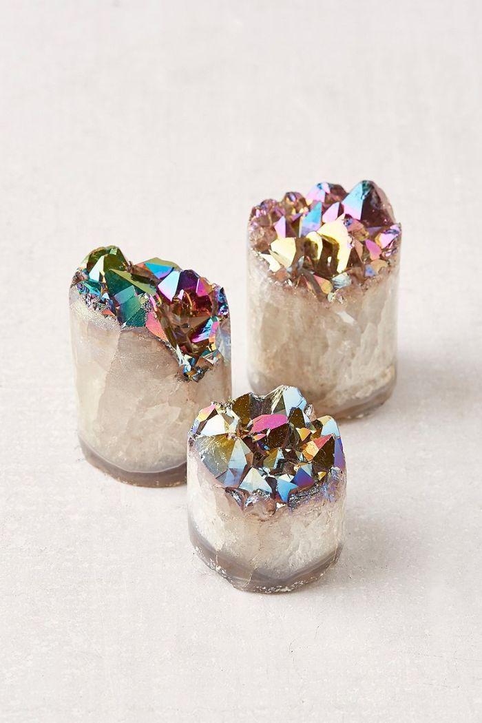Objets déco tendances avec irisation crystal