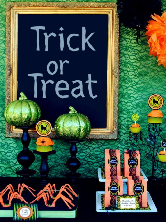 idées de décoration de table d'Halloween 1