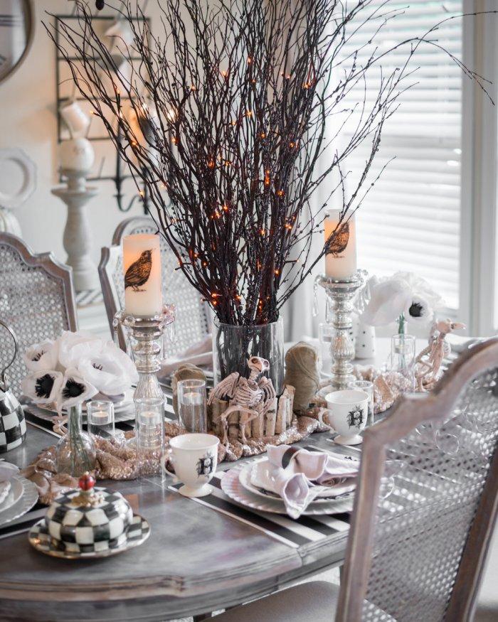 idées de décoration de table d'Halloween 9