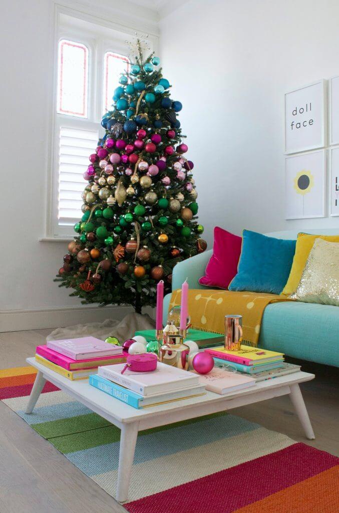 Décorations de sapins de Noël Rainbow Christmas