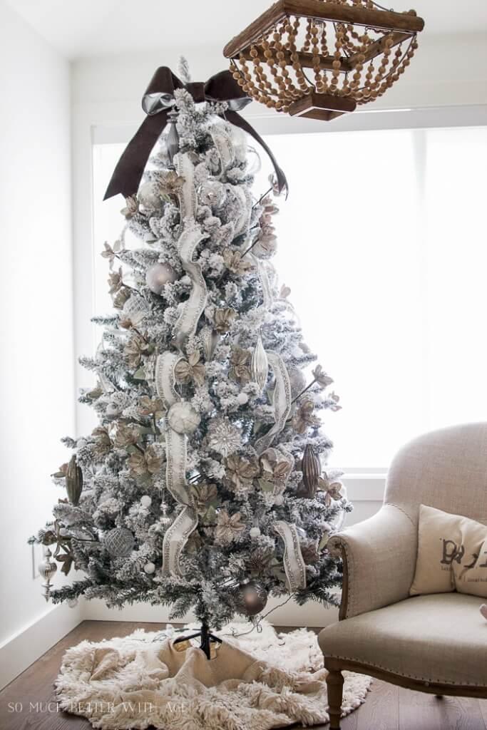 Décorations de sapins de Noëlargenté