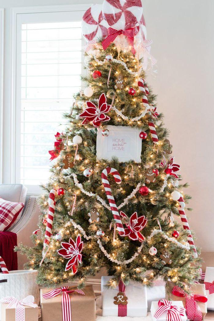Idées de décoration de sapin de Noëlles cannes à sucre