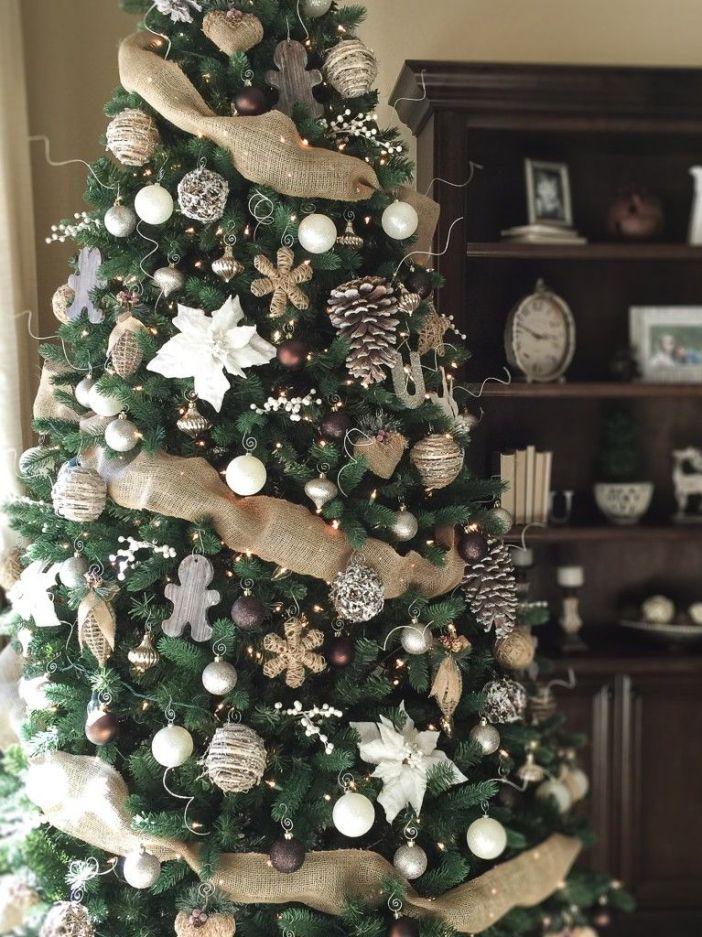Idées de décoration de sapin de Noël rustique