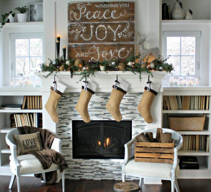 Décorer sa cheminée à Noëlla sophistication