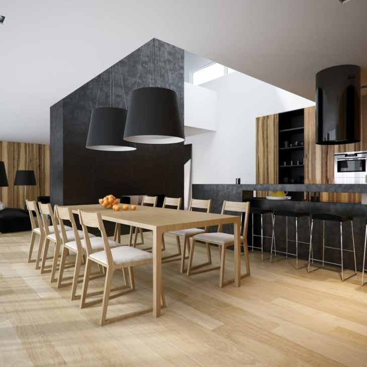 Des salles à manger minimalistes à la décoration revigorante 8