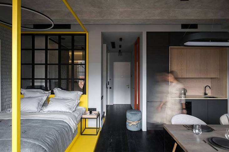 Découvrez l'incroyable décoration monochromatique de cet appartement 1