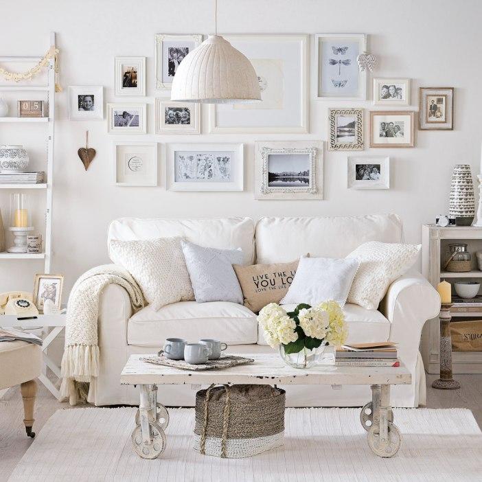 Utilisez des pastels dans votre décoration cottage féminine