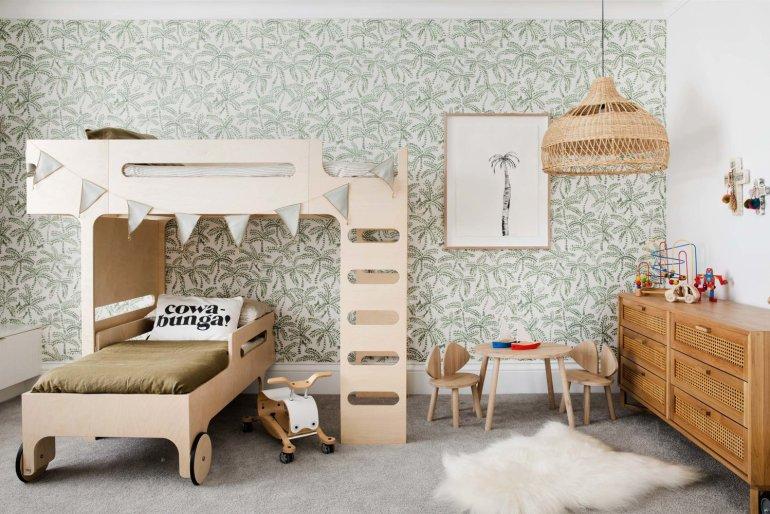 Décorer une chambre d'enfant avec un papier peint amusant