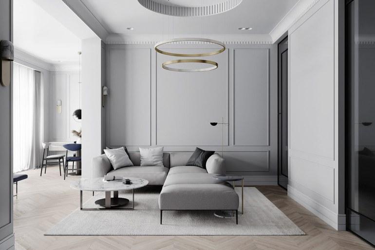 décoration d'intérieur néoclassique à base de gris 1