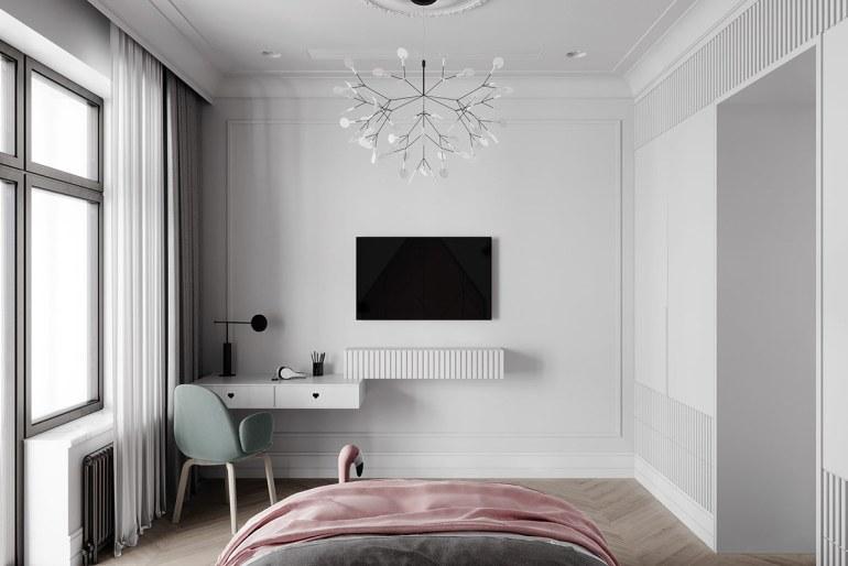 décoration d'intérieur néoclassique à base de gris 9