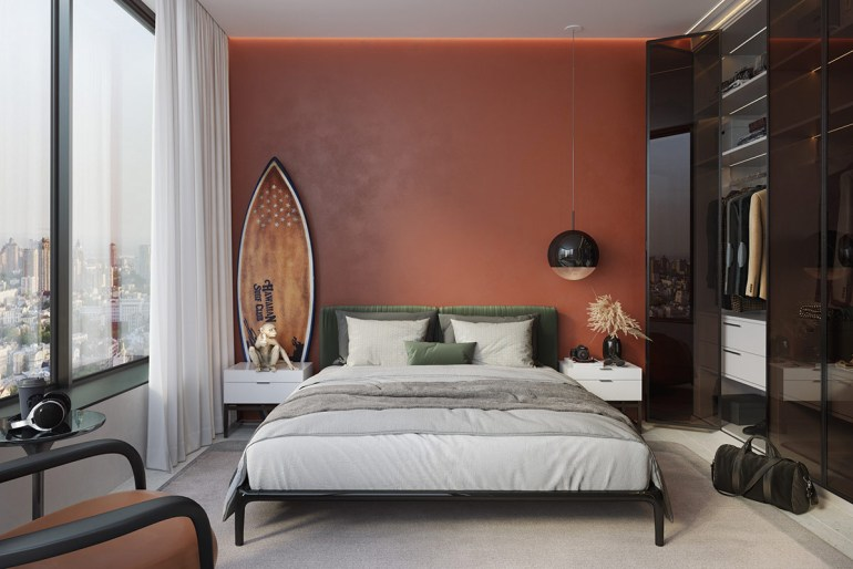 Spotless Agency utilise la même palette de couleur pour la chambre d'amis