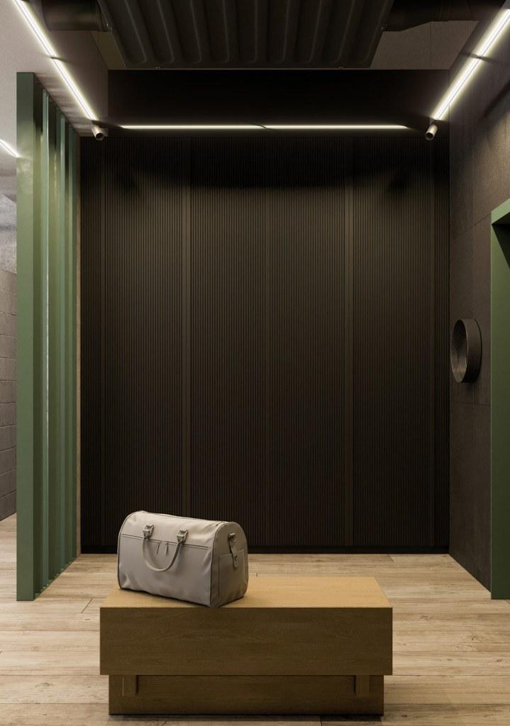 Une maison de style industriel avec une torsion colorée 5