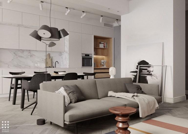 Une maison monochrome mais un salon vivant1
