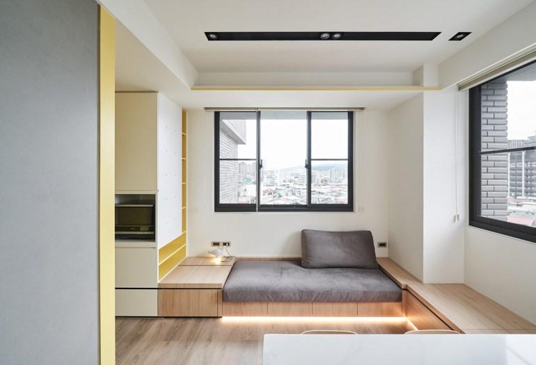 Solutions d'économie d'espace pour des petits intérieurs aérés