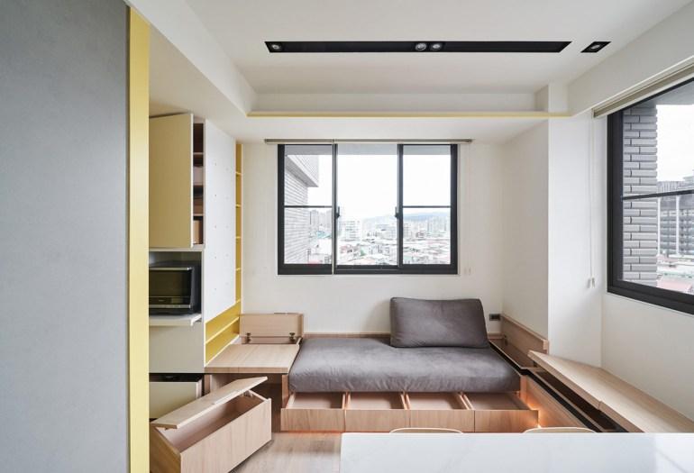 Solutions d'économie d'espace pour des petits intérieurs aérés 2