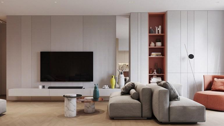 Un intérieur rétro moderne rempli d'idées de conception originales 1
