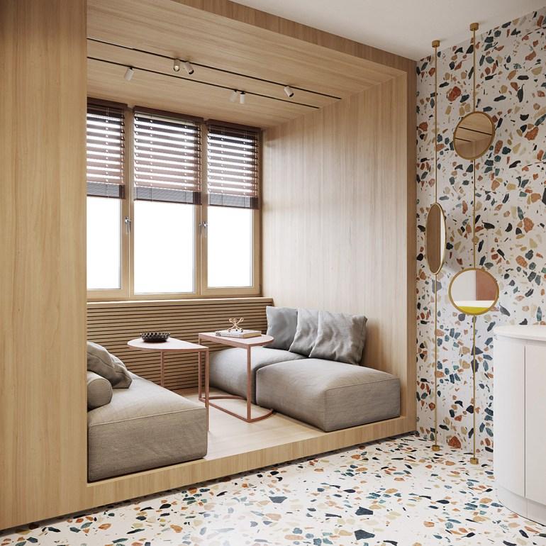 Un intérieur rétro moderne rempli d'idées de conception originales 4