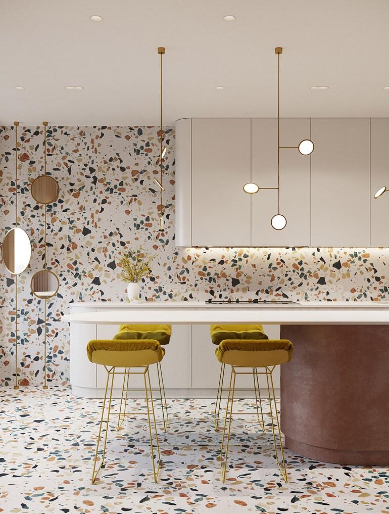 Un intérieur rétro moderne rempli d'idées de conception originales 6