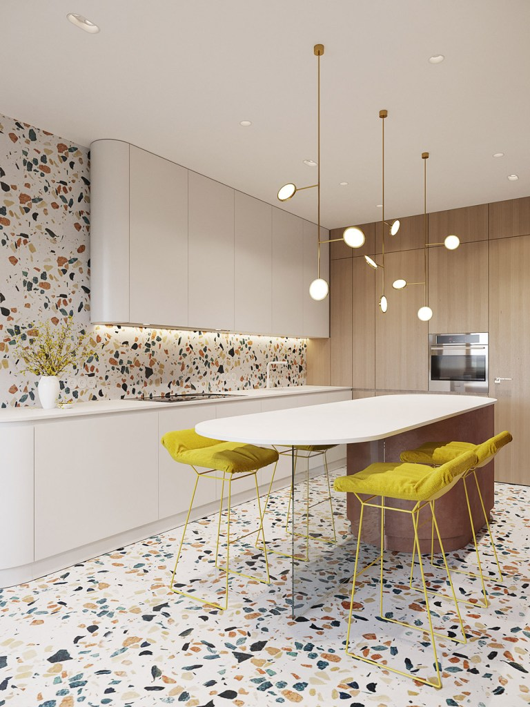 Un intérieur rétro moderne rempli d'idées de conception originales 7