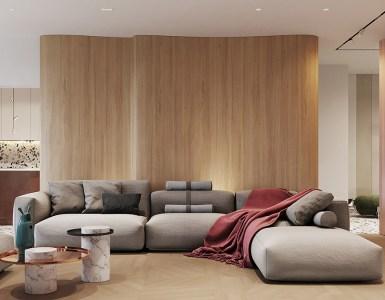 Un intérieur rétro moderne rempli d'idées de conception originales