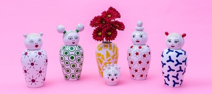 vases en porcelaine Elena Cutolo Seletti