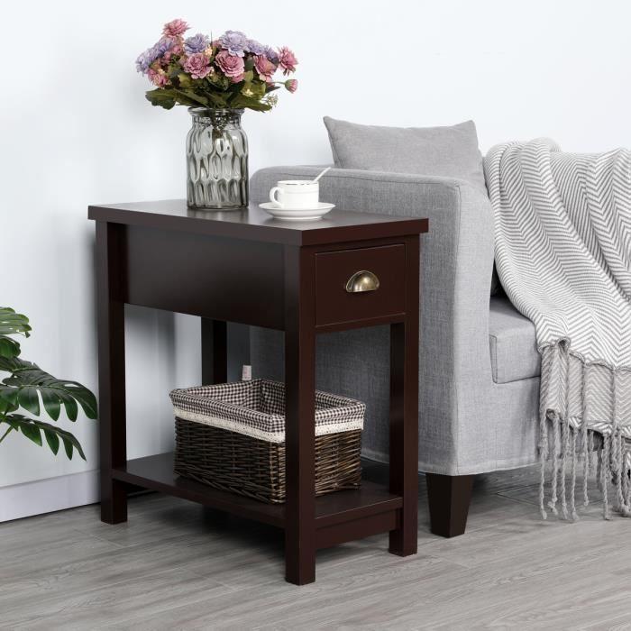 Bout de canapé à tiroirs